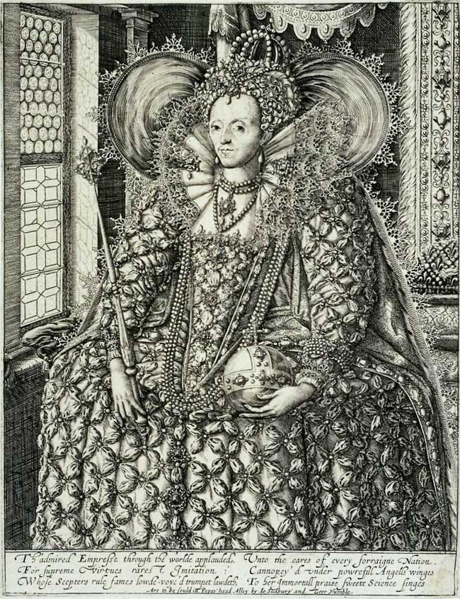 facsimile of early-17th-century portrait engraving