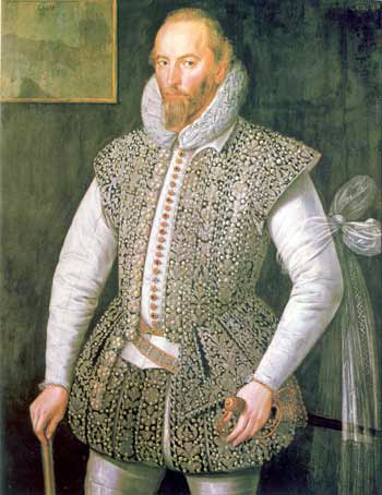facsimile of late-16th-century painted portrait