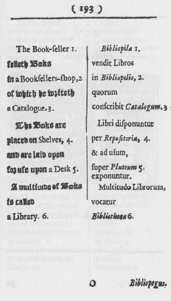 facsimile of mid-17th-century book page