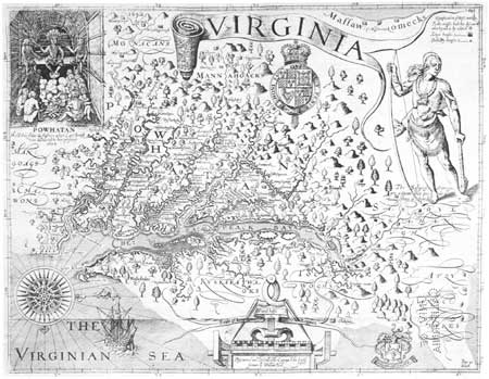 Capt. John Smith's map of Virginia (as reprinted in 1624)